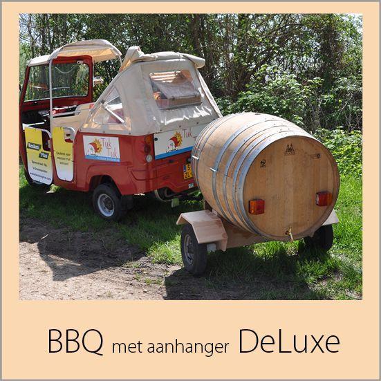 BBQ met aanhanger bij de tuk voor je avontuur in de zak van zuid beveland van Zeeland bij goes