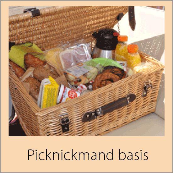 Picknickmand bij de tuk voor je avontuur in de zak van zuid beveland van Zeeland bij goes
